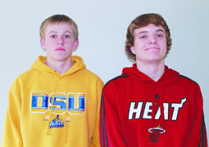 ALL-CONFERENCE boys team members from Sanborn Central for the CBH and/or 281 are Dillon Moore and Tucker Kingsbury.