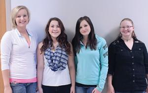 Sanborn Central vocalists are Morgan Selland, Breanne Brandenburg, Tamra Mann and Lorrie Eppe.