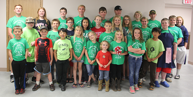 The Town 'N Kountry Kids Red Crew 4-H Club distributed poppies and collected donations for veterans this past week. Pictured are: back row, Spens Schlicht, Trista White, Xavier Baysinger, Rex Schlicht, Aaron Linke, Evan Ohlrogge, Megan Linke, Nathan Linke, Collin Schmiedt and Kaylee White; middle row, Charles Hunter, Sebastian Kotilinek, Braxton Gentles, Acaiya Schultz, Bailey Feistner, Morgan Schmiedt, Emily Ohlrogge, Brooklyn Swenson and Henry Hunter; front row , Shiloh Senska, Eli White, Isaiah Schultz, Trinity Kotilinek, Kaitlyn Swenson, Alex Goettsch, Sutton Senska, Cassie Goettsch, Hope Baysinger and Elisha Schultz.