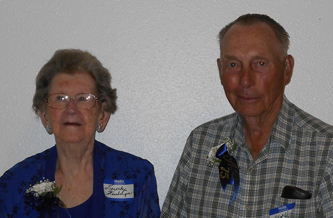 DOROTHY WEINBERGER and Bob Hendrix celebrated 75 years since their high school graduation.