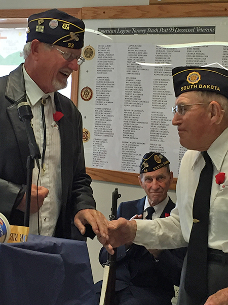 Marvin Northrup recognized as being a 60-year Letcher Legion member.