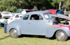 Over 60 entries appeared in the car show at the Melon Fest, which even included motorcycles, a tractor and a dragster.
