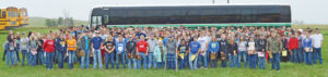 THE 448 students from 22 schools across the state pose for a photo with Martin and Marian Andersen, owners of the site of Woonsocket's Land and Range Judging School. The school usually draws a little more than half the numbers it did this year. The students judge throughout the morning and then are fed a meal at the site, catered by Skeeter's Lounge, Woonsocket.