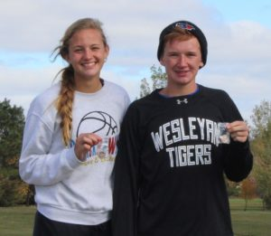 SYDNEY ZELLER and Spens Schlicht were the first runners from the new Blackhawks Cross Country team to earn a trip to the state meet.