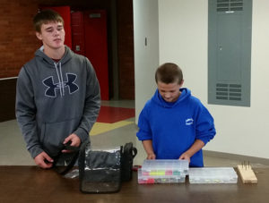 Tyler and Tyson Eddy explain how to make a fishing lure.