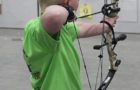 Rylan Grassel shoots in the compound archery discipline at the State 4-H Shoot this past year.