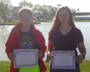 PICTURED ARE Carter Christian and Madison Schmiedt, state CDA Education Contest winners.