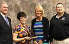 Pictured above are Gov. Dennis Daugaard, Elementary Principal Paula Lynch, School Board VP Lisa Snedeker and Supt. Rod Weber.
