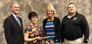 Pictured above are Gov. Dennis Daugaard, Elementary Principal Paula Lynch, School Board VP Lisa Snedeker and Supt. Rod Weber.